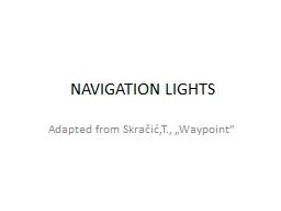 NAVIGATION LIGHTS PowerPoint PPT Presentation