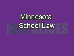 Minnesota School Law