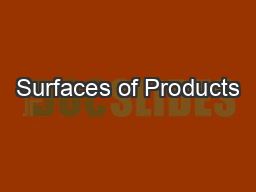 Surfaces of Products