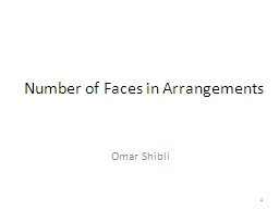 Number of Faces in Arrangements PowerPoint PPT Presentation