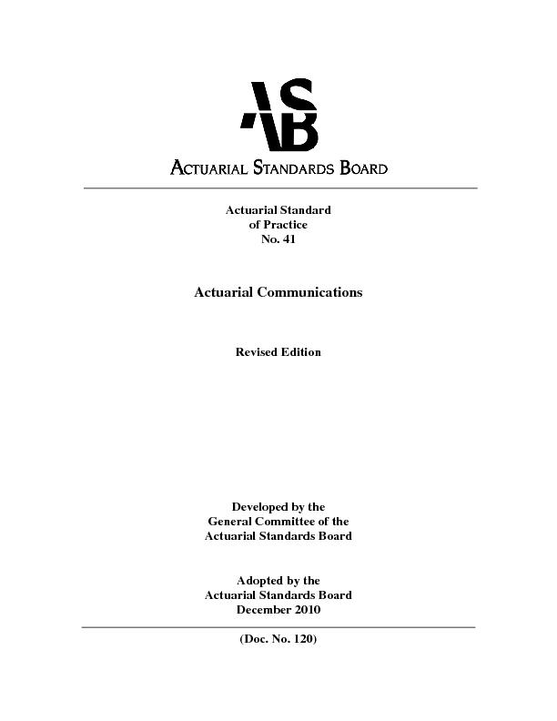 Actuarial Communications