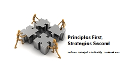 Principles First,
