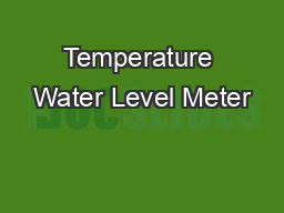 Temperature Water Level Meter