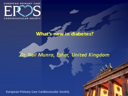 What�s new in diabetes?