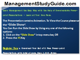 Learn Management the Easy Way with the Help of Downloadable PowerPoint PPT Presentation