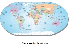 Where is Iceland on the world map?