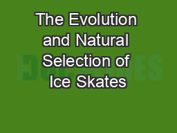 The Evolution and Natural Selection of Ice Skates