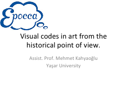 Visual codes in art from the historical point of view