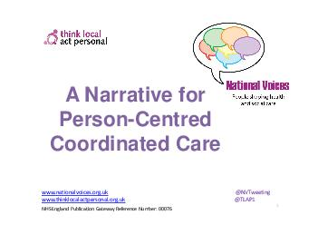 A Narrative for PersonCentred Coordinated Care        About this Narrative   PDF document - DocSlides