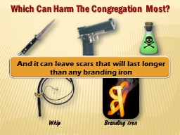 Which Can Harm The Congregation Most?