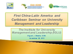 First China-Latin America and Caribbean Seminar on Universi