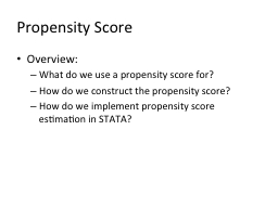 Propensity Score PowerPoint PPT Presentation