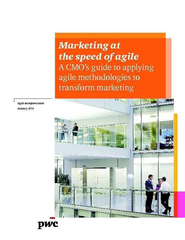 Marketing at the speed of agileA CMO's guide to applying agile me