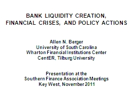 BANK LIQUIDITY CREATION, PowerPoint PPT Presentation