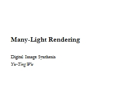 Many-Light Rendering