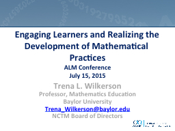 Engaging Learners and Realizing the Development of Mathemat