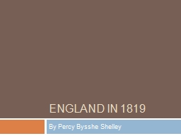 England in 1819