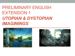 Preliminary English Extension 1