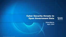 Cyber Security threats to