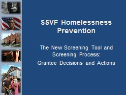 SSVF Homelessness Prevention