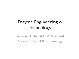 Enzyme Engineering & Technology