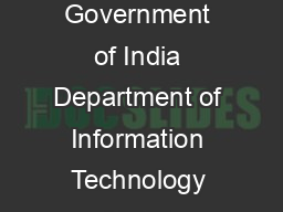 National Informatics Centre Internet Services Internal Documents Government of India Department of Information Technology MCIT NATIONAL INFORMATICS CENTRE Application for EMail account for a single u