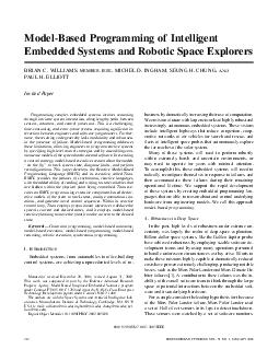 ModelBased Programming of Intelligent Embedded Systems and Robotic Space Explorers BRIAN C