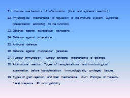 21.Immune mechanisms of inflammation (local and systemic