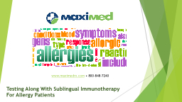 Testing Along With Sublingual Immunotherapy