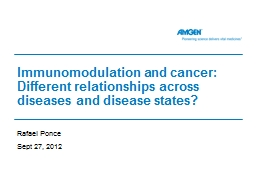 Immunomodulation and cancer: Different relationships across