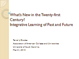 What's New in the Twenty-first Century?