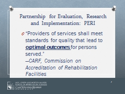 Partnership for Evaluation, Research and Implementation: PE