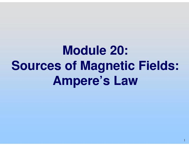 Sources of Magnetic Fields: