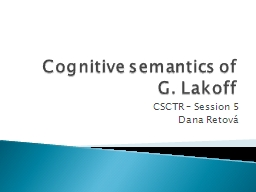 Cognitive semantics of G. PowerPoint PPT Presentation