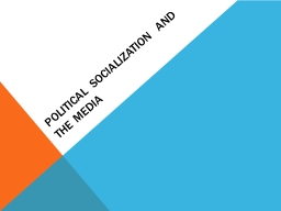 Political Socialization and The Media