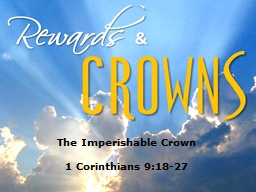 The Imperishable Crown