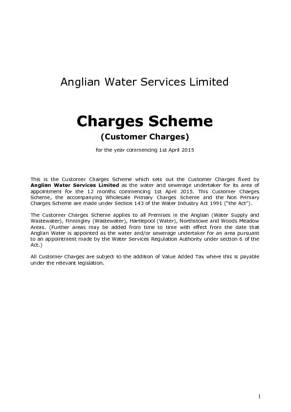 Anglian Water Services Limited PowerPoint PPT Presentation