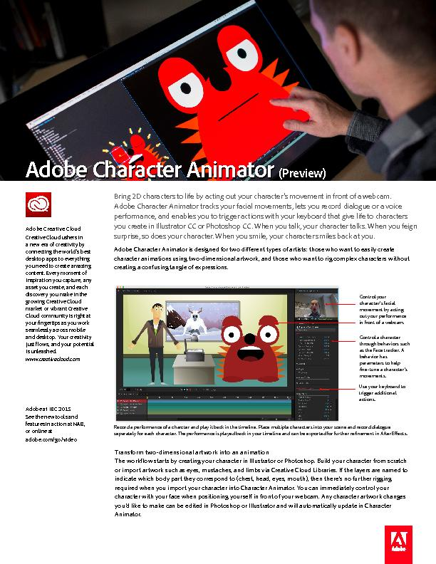 Bring 2D characters to life by acting out your character's moveme