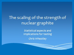 The scaling of the strength of nuclear PowerPoint PPT Presentation