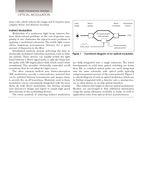 High Frequency Electronics High Frequency Design OPTICAL MODULATION A Tutorial Introduction to Optical Modulation Techniques By Gary Breed Editorial Director his article intro duces the subject of o