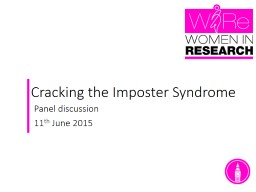 Cracking the Imposter Syndrome