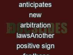 India anticipates new arbitration lawsAnother positive sign for those