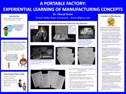Experiencing Concepts Helps PowerPoint PPT Presentation