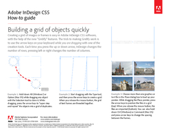 Adobe InDesign CS Howto guide Building a grid of objects quickly Creating a grid PDF document - DocSlides