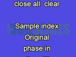 n xn xn sin cos xn This program is to simulate the wrapping process clc close all  clear               Sample index Original phase in radians The signal x whose amplitude exceeds the range