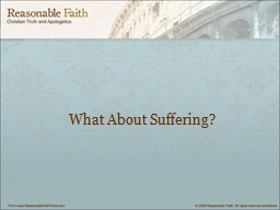 What About Suffering?