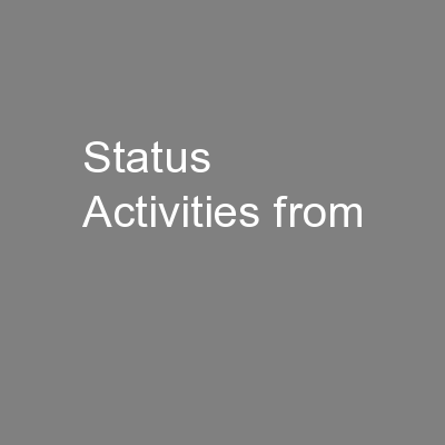 Status Activities from PowerPoint PPT Presentation