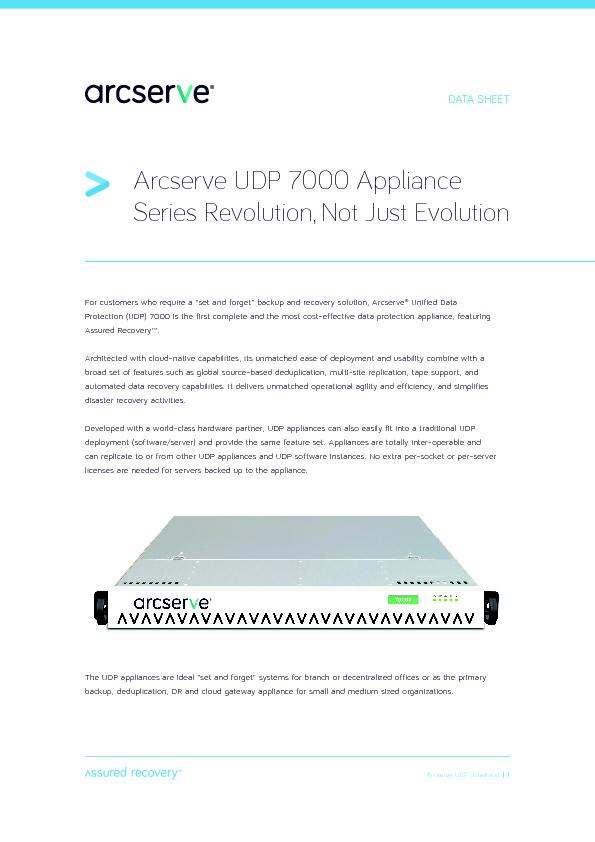 Acserv D 7000 Appliance   Series Rvlution, Not Just Eolution