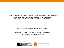 Impulsive noise mitigation in OFDM systems using