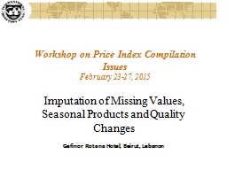 Workshop on Price Index Compilation Issues